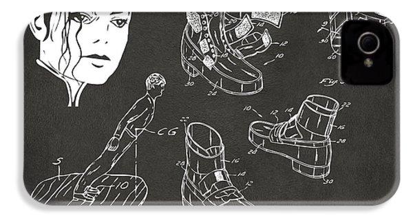 Michael Jackson Anti-gravity Shoe Patent Artwork Vintage IPhone 4 / 4s Case by Nikki Marie Smith