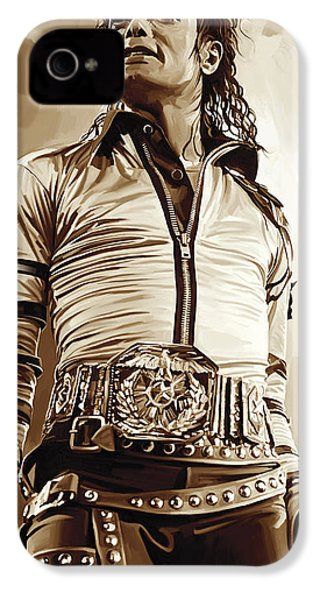 Michael Jackson Artwork 2 IPhone 4 / 4s Case by Sheraz A