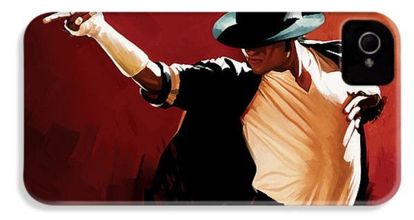 Michael Jackson Artwork 4 IPhone 4 / 4s Case by Sheraz A