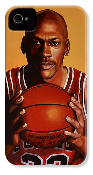 Michael Jordan 2 IPhone 4 / 4s Case by Paul Meijering
