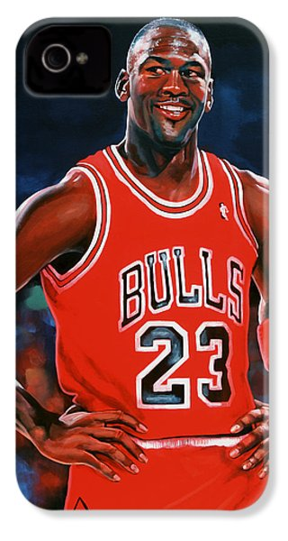 Michael Jordan IPhone 4 / 4s Case by Paul Meijering