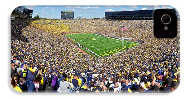 Michigan Stadium - Wolverines IPhone 4 / 4s Case by Georgia Fowler