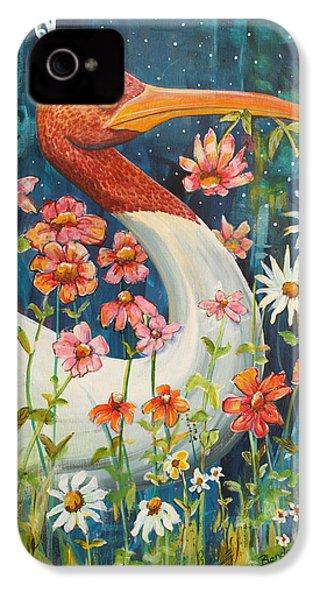 Midnight Stork Walk IPhone 4 / 4s Case by Blenda Studio