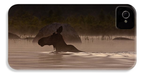 Moose Swim IPhone 4 / 4s Case by Brent L Ander
