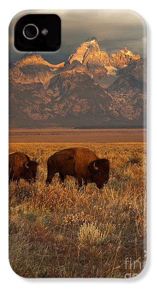 Morning Travels In Grand Teton IPhone 4 / 4s Case by Sandra Bronstein