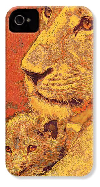 Mother And Cub IPhone 4 / 4s Case by Jane Schnetlage