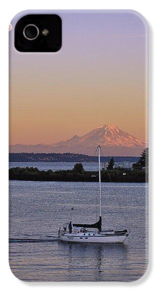 Mt. Rainier Afterglow IPhone 4 / 4s Case by Adam Romanowicz