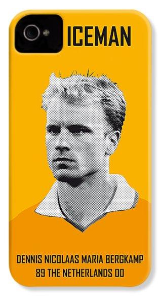 My Bergkamp Soccer Legend Poster IPhone 4 / 4s Case by Chungkong Art