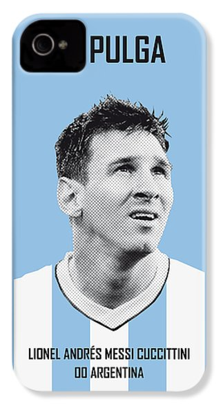 My Messi Soccer Legend Poster IPhone 4 / 4s Case by Chungkong Art