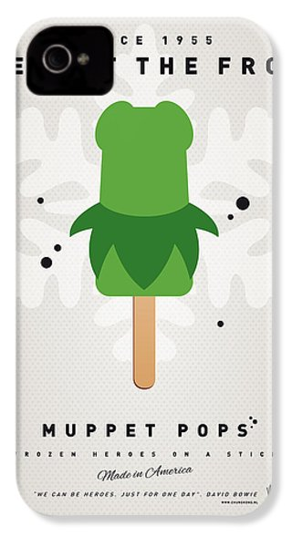 My Muppet Ice Pop - Kermit IPhone 4 / 4s Case by Chungkong Art