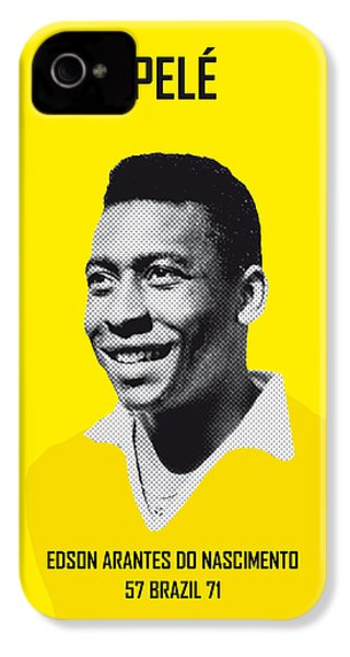My Pele Soccer Legend Poster IPhone 4 / 4s Case by Chungkong Art