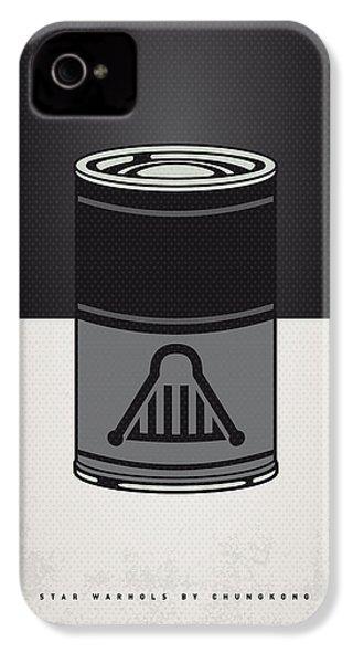My Star Warhols Darth Vader Minimal Can Poster IPhone 4 / 4s Case by Chungkong Art