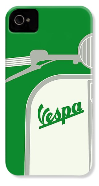 My Vespa - From Italy With Love - Green IPhone 4 / 4s Case by Chungkong Art