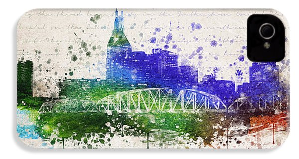 Nashville In Color IPhone 4 / 4s Case by Aged Pixel