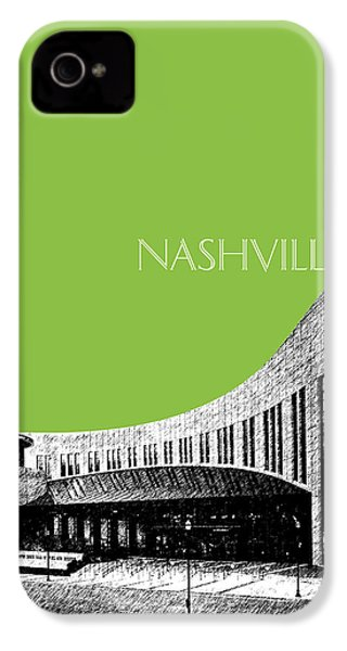 Nashville Skyline Country Music Hall Of Fame - Olive IPhone 4 / 4s Case by DB Artist