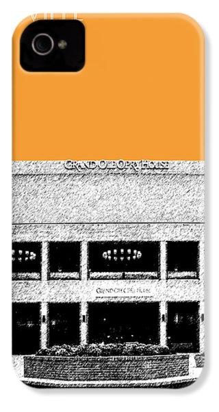 Nashville Skyline Grand Ole Opry - Orange IPhone 4 / 4s Case by DB Artist
