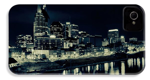 Nashville Skyline Reflected At Night IPhone 4 / 4s Case by Dan Sproul
