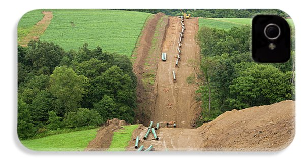 Natural Gas Pipeline Construction IPhone 4 / 4s Case by Jim West