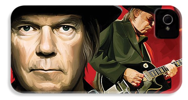 Neil Young Artwork IPhone 4 / 4s Case by Sheraz A
