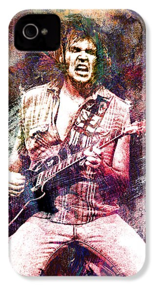 Neil Young Original Painting Print IPhone 4 / 4s Case by Ryan Rock Artist