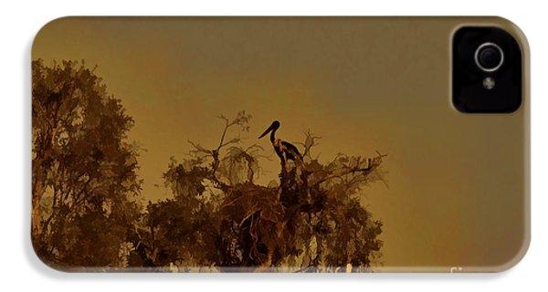 Nesting Jabiru  IPhone 4 / 4s Case by Douglas Barnard