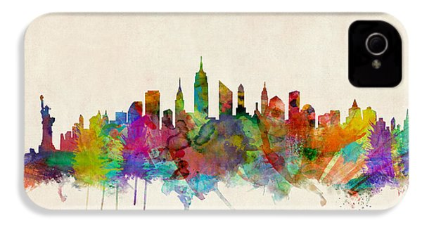 New York City Skyline IPhone 4 / 4s Case by Michael Tompsett