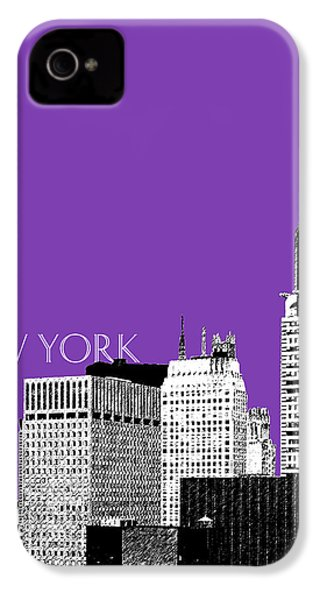 New York Skyline Chrysler Building - Purple IPhone 4 / 4s Case by DB Artist