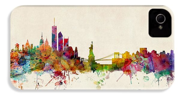 New York Skyline IPhone 4 / 4s Case by Michael Tompsett