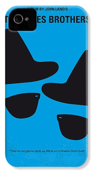 No012 My Blues Brother Minimal Movie Poster IPhone 4 / 4s Case by Chungkong Art