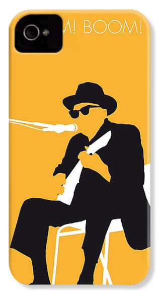 No054 My Johnny Lee Hooker Minimal Music Poster IPhone 4 / 4s Case by Chungkong Art