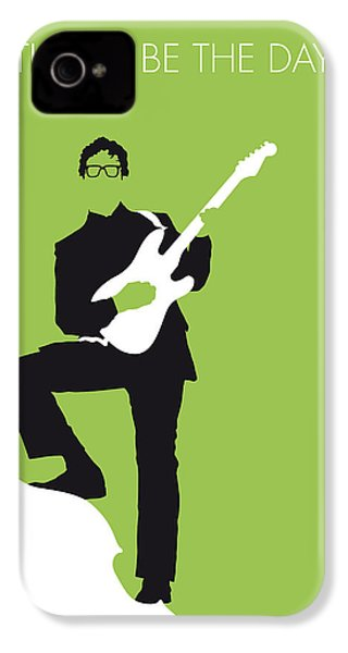 No056 My Buddy Holly Minimal Music Poster IPhone 4 / 4s Case by Chungkong Art