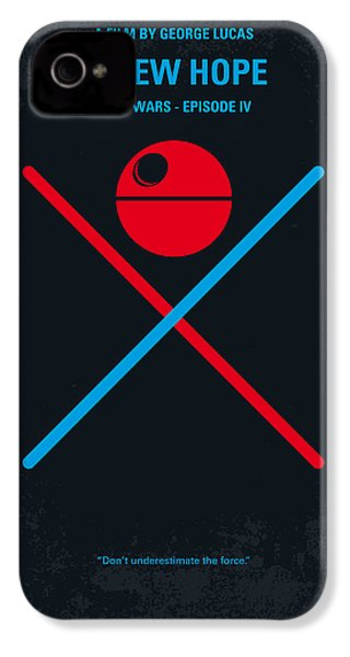 No154 My Star Wars Episode Iv A New Hope Minimal Movie Poster IPhone 4 / 4s Case by Chungkong Art