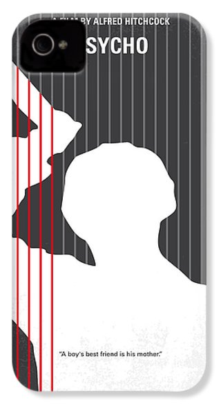 No185 My Psycho Minimal Movie Poster IPhone 4 / 4s Case by Chungkong Art