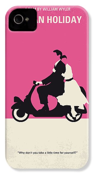 No205 My Roman Holiday Minimal Movie Poster IPhone 4 / 4s Case by Chungkong Art