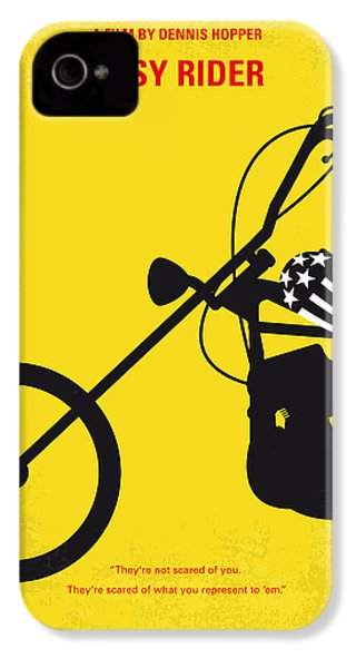 No333 My Easy Rider Minimal Movie Poster IPhone 4 / 4s Case by Chungkong Art