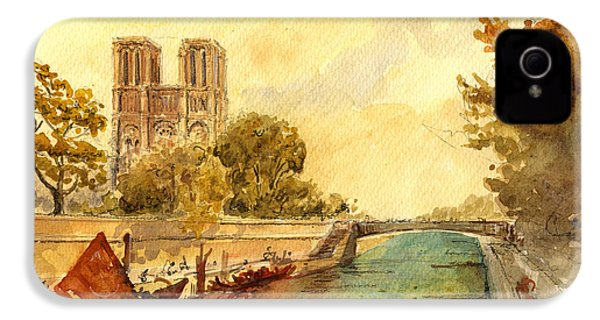 Notre Dame Paris. IPhone 4 / 4s Case by Juan  Bosco