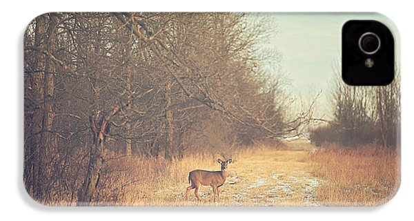 November Deer IPhone 4 / 4s Case by Carrie Ann Grippo-Pike