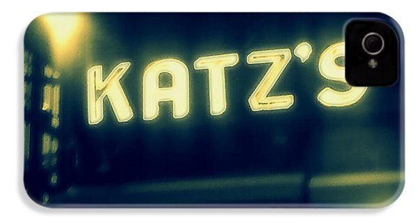 Nyc's Famous Katz's Deli IPhone 4 / 4s Case by Paulo Guimaraes