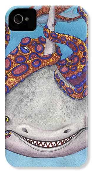 Octopied IPhone 4 / 4s Case by Catherine G McElroy