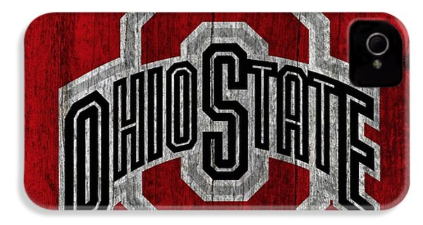Ohio State University On Worn Wood IPhone 4 / 4s Case by Dan Sproul