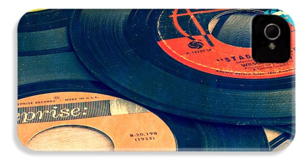 Old 45 Records Square Format IPhone 4 / 4s Case by Edward Fielding