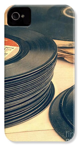 Old 45s IPhone 4 / 4s Case by Edward Fielding
