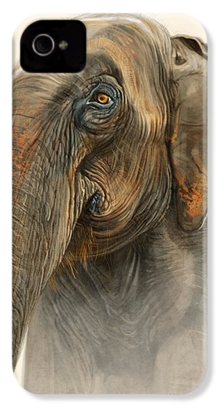 Old Lady Of Nepal 2 IPhone 4 / 4s Case by Aaron Blaise