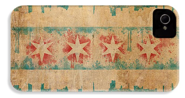 Old World Chicago Flag IPhone 4 / 4s Case by Mike Maher