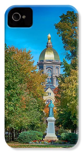 On The Campus Of The University Of Notre Dame IPhone 4 / 4s Case by Mountain Dreams