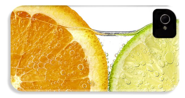 Orange And Lime Slices In Water IPhone 4 / 4s Case by Elena Elisseeva