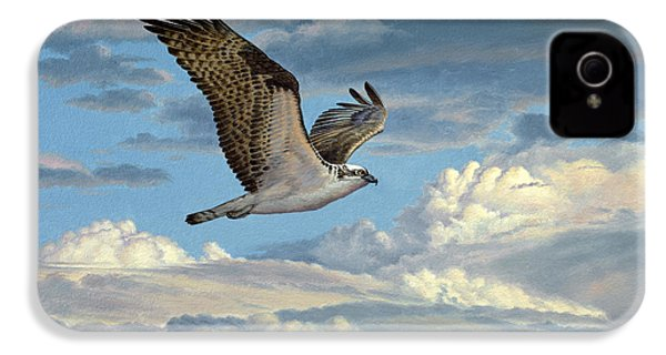 Osprey In The Clouds IPhone 4 / 4s Case by Paul Krapf