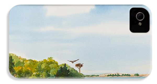 Ospreys On The Vineyard Watercolor Painting IPhone 4 / 4s Case by Michelle Wiarda
