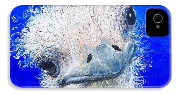 Ostrich Painting 'waldo' By Jan Matson IPhone 4 / 4s Case by Jan Matson