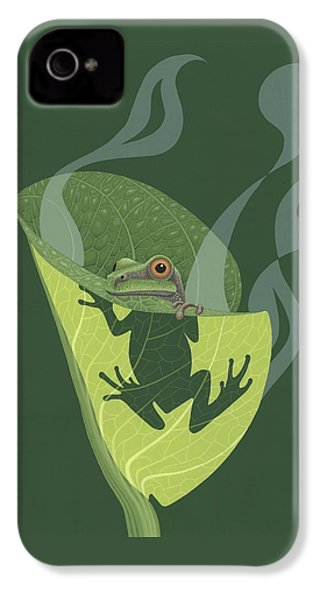 Pacific Tree Frog In Skunk Cabbage IPhone 4 / 4s Case by Nathan Marcy